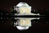 jefferson memorial and lake reflection (1/07)