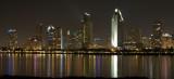 san diego skyline from across the bay, night shot, zoomed - san diego (12/07)