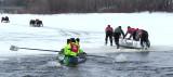 en bande sur la glace