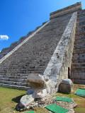 L'escalier du serpent, pyramide de Kukulkan