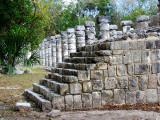 escalier et les colonnes
