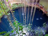 l'eau bleu du cenote