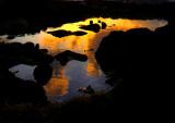 reflet d'un lever de soleil