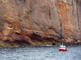 Pêche sous la falaise