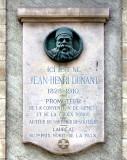 Ici est né Jean-Henri Dunant 1828-1910