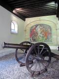 Un des canons de la place d'armes