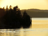 coucher cuivré sur le Saguenay