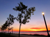 lever de soleil  sur la promenade