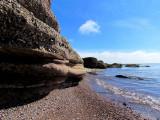 conglomérat sur plage