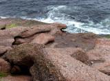 une pente en rochers
