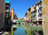 Annecy,  marché sur le pont