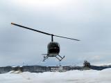 hélicoptère au décollage