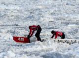 #45 marchant sur la glace