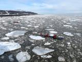 Sur le Saint-Laurent glacé