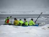 Dans les glaces du Saint-Laurent.