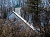 Le toit au pignon vert
