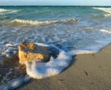 petit récif sur la plage