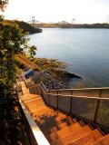 L'escalier du sentier des grèves et les ponts