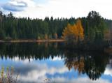 vue du lac aux mélèzes