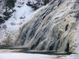 chute de Rivière du Loup au début de l'hiver