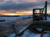 Rivière-du-loup au coucher du soleil de décembre