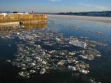 glace flottante au quai de Québec