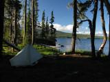 My camp at Summit Lake
