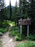 Vintage sign and trail section