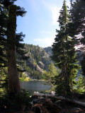 Cliff Lake campsite view