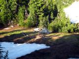 Fire Creek basin campsite