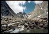 Titcomb Basin upper waterfall