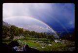 Timothy Lake double rainbow
