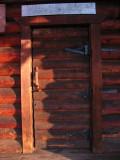 Government Camp cabin door