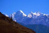First sight of Everest, Junbesi