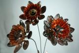 three flowers close up