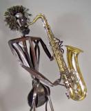 jazz man on tennor sax