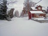 studio in the snow looking west