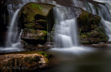 Waterfall Rugged Rocks