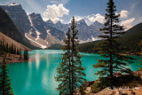 Moraine Lake in the Valley of the Ten Peaks.