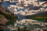 Medicine Lake reflections.