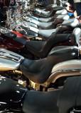 Row of Harley Seats