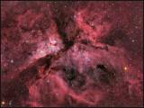 Eta Carina nebula with Hydrogen-Alpha