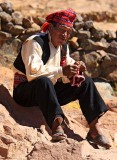 The knitting man, Taquile island