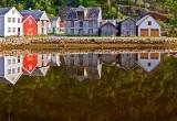 Water reflection, Lærdal