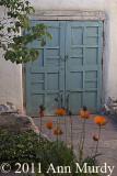 Doorway with poppies
