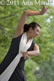 Flamenco dancer in black  white