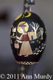 Straw appliqued egg by Diane Moya Lujan