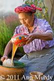Antonieta making tejate