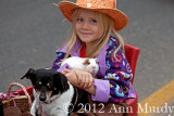 Little Girl with her pets
