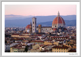 Giotto and Basilica of Saint Mary of the Flower: View from Piazzale Michelangelo